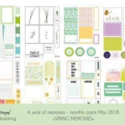 Kreativ scrapping med månedens tema