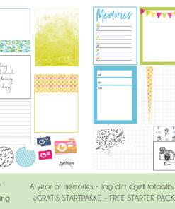 Kreativ Scrapping - Startpakke til fotoalbum og scrapping