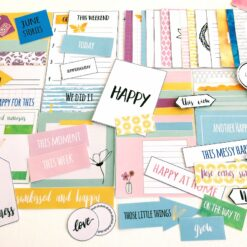 """Happy"" - A year of memories - Fotoalbum, scrapping kit i juni"