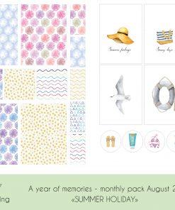 Sett ferieminnene i fotoalbum sammen med journalkortene fra Summer Holiday