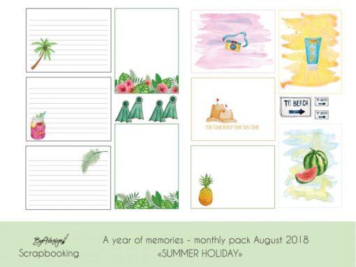 """Sett ferieminnene i fotoalbum sammen med journalkortene fra """"Summer Holiday"""""""