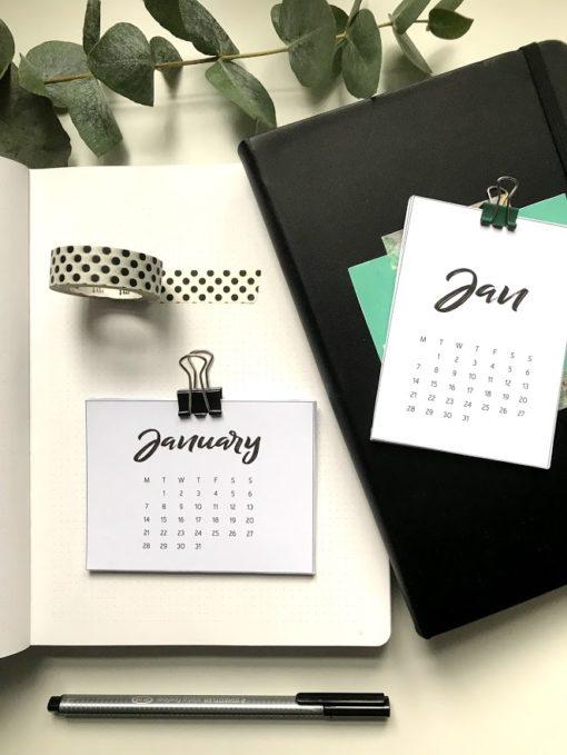 2019 Kalender pocket scrapbooking bordkalender