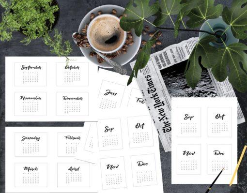 2019 Kalender - pocket scrapbooking - bordkalender