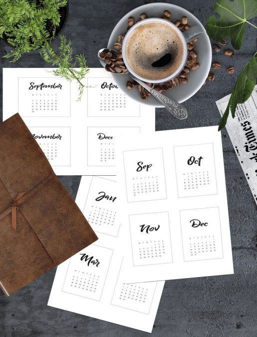2019 Kalender - pocket scrapbooking - bordkalender