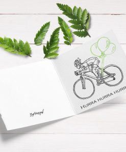 Kort med sykkelmotiv - print ut selv eller velg ferdigtrykt