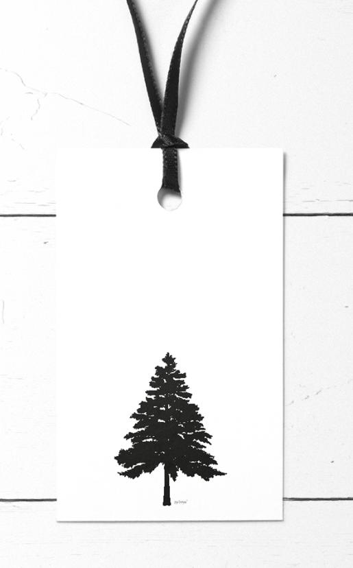 Gavelapper med trær og kongler - vakker og enkel stil