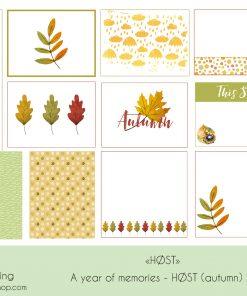 Høst tema til Scrapbooking Project Life - Journalkort og dekor