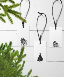 Julegavelapper med tradisjonell julestemning