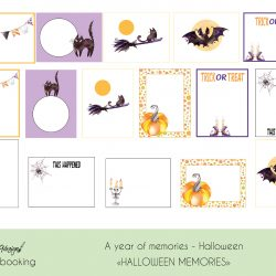 Halloween Project life og Scrapbooking produkter