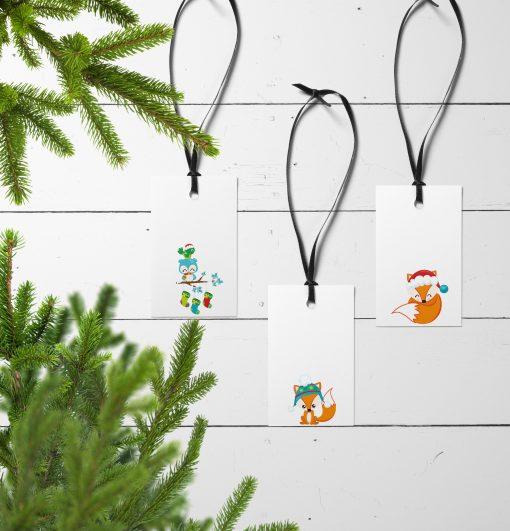 Gavelapper til små julevenner med tre ulike motiver