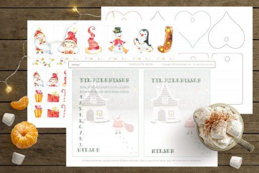Barnas ønskeliste og gavelapper - pdf