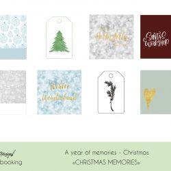 Christmas memories journalkort og pynt - Project Life