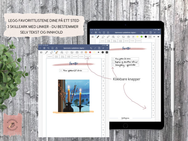 Digital planlegger for iPad - nettbrett