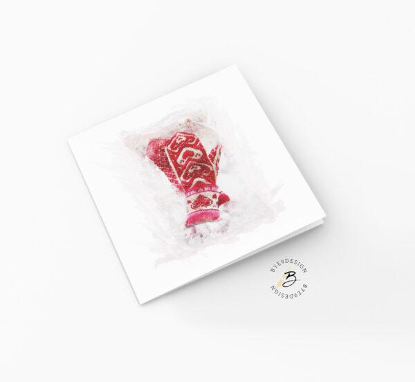 Hjertevotter - kort - ferdig trykt eller print selv