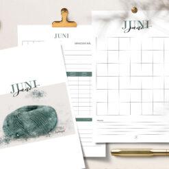 Strikkejournal - redigerbar pdf - for utskrift fra Bye9design
