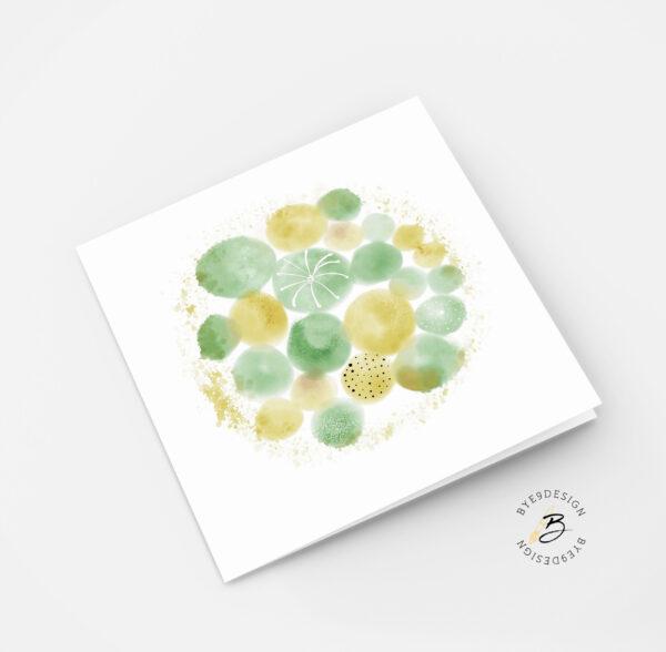 Blomstring - dobbelt kort fra Bye9design
